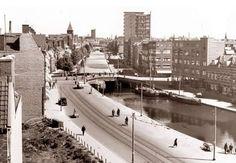 Rotterdam - Schieweg & Schiekade, voor de demping (met oorlogspuin ).