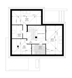 Projekt domu Hiacynt on Behance Dream House Exterior, Modern House Design, Beach House, House Plans, Floor Plans, Behance, How To Plan, House Styles, Arquitetura