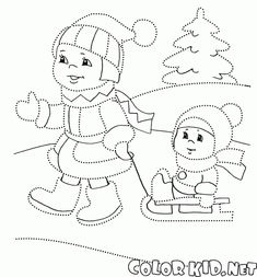 Winter Activities For Kids, Winter Crafts For Kids, Winter Fun, Simple Car Drawing, Drawing For Kids, Art For Kids, Coloring Books, Coloring Pages, Christmas Quilt Patterns