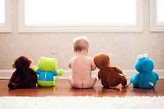 Nine month baby session idea