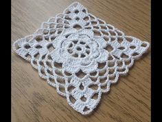 Miniature crochet square doily 6 cm, dollhouse crochet tablecloth, dollhouse miniature white small doily micro crochet by MiniGio Crochet Motif Patterns, Granny Square Crochet Pattern, Crochet Diagram, Crochet Squares, Crochet Designs, Granny Squares, Crochet Vintage, Love Crochet, Hand Crochet