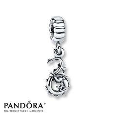 Pandora Dangle Charm Dragon  Sterling Silver