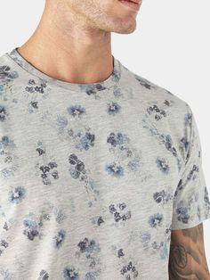 Grey Floral Print T-Shirt