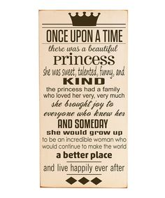 Inspire little ones' imaginations every time they glance at this fairy-tale, vintage-inspired sign. Constructed from durable materials and finished with a protective coating that adds a distressed design, it's complete with a keyhole on the back for easy hanging, perfect for every bitty bedroom!12'' W x 24'' H x 0.5'' DMedium-density fiberboard / vinyl