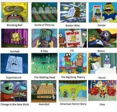 Spongebob television, the glee one got me😂😂