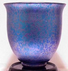 Loetz Cobalt Papillion Art Deco Vase