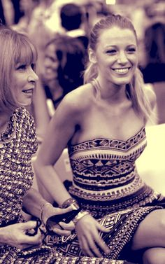 Anna Wintour & Blake Lively
