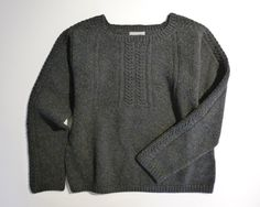 Margaret Howell jumper produced for Wool School designed by Emma Brooks Margaret Howell, Knitting Designs, Knits, Nice Dresses, Scotland, Style Me, Knitwear, Editorial, British