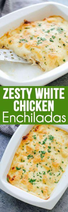 Zesty White Chicken Enchiladas