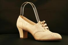 1920s Women's Oxford Pumps with Buckle Closure--Instead of shoe laces this one has a little belt that buckles at the top.
