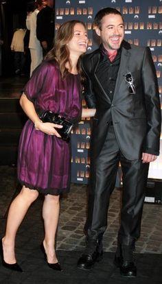 Susan and Robert Downey Jr., Iron Man premiere