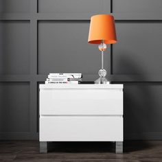 Buy Jenson White High Gloss 2 Drawer Bedside Drawers from - the UK's leading online furniture and bed store Room Design Bedroom, Bedroom Ideas, Bedside Drawers, Online Furniture, High Gloss, Modern Decor, Cabinets, Organization, Contemporary