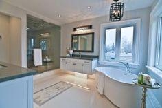 Beautiful bathroom inside 293 Ashbury Rd Oakville!