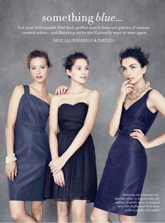 Find This Pin And More On Event Inspiration By Dcperissi Deep Navy Bridesmaid Floor Length Gowns In