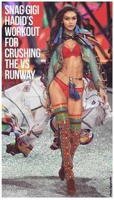 Gigi Hadid's workout for crushing the VS runway, and getting those jaw dropping abs!