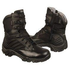 Bates Men's GX-8 Gore Tex Side Zip Work Boot - Black