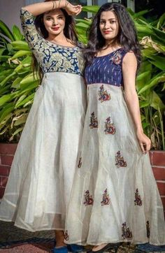 Best 12 has become the women and girls most favorite style statement to look stylish with the charming traditional look. These classy yet trendy kurtas are so comf – SkillOfKing. Long Gown Dress, Sari Dress, Anarkali Dress, Lehenga, Long Dress Design, Dress Neck Designs, Blouse Designs, Churidar Designs, Kurta Designs Women