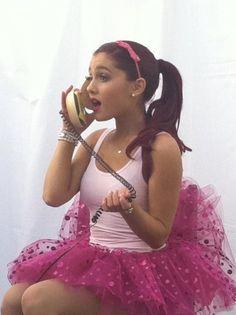 Ariana Grande- I love her burger phone! :)