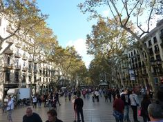 Stroll on Las Ramblas in #Barcelona, #Spain #LasRamblas