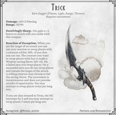 Halloween themed magic items : DnDHomebrew Dnd Dragons, Dungeons And Dragons Characters, D&d Dungeons And Dragons, Dnd Characters, Fantasy Characters, Fantasy Weapons, Fantasy Rpg, Dark Fantasy Art, Dnd Stories