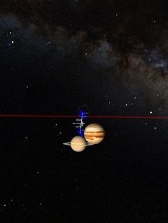 ISS checking in on Jupiter and Saturn