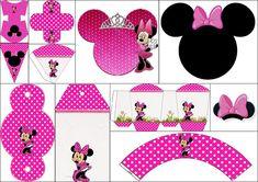 Coqueta Minnie Rosa: Imprimibles para Fiestas y Cajas para Imprimir Gratis. | Ideas y material gratis para fiestas y celebraciones Oh My Fiesta!