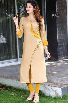New Ideas Style Hijab Simple Long Sleeve Simple Kurti Designs, Salwar Designs, Kurta Designs Women, Kurti Designs Party Wear, Latest Kurti Designs, Dress Neck Designs, Designs For Dresses, Blouse Designs, Ok Design
