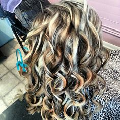low lights, and highlights. Looks like a zebra Hair Color And Cut, Haircut And Color, Love Hair, Great Hair, Awesome Hair, Hair Highlights, Dramatic Highlights, Platinum Highlights, Brown Highlights