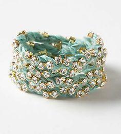 DIY Anthropologie Wrapped Silk Cuff Bracelet