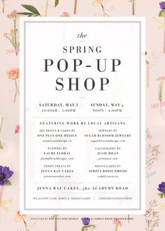 The Spring Pop Up Shop! » simply rosie photography