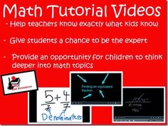 Student created math tutorial videos help you know if the student truly knows what they think they know.  Blog post from Raki's Rad Resources.