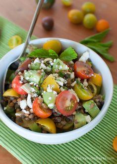 Summer Lentil Salad | Kitchen Confidante | Heirloom Tomatoes