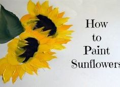 How to Paint a Folkart One Stroke Sunflower