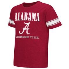 Youth Colosseum Alabama Crimson Tide Free Agent Short Sleeve T-Shirt (Crimson)  Style Number: COTS40175  Crimson  Stay comfortable but still show off your team pride with the Youth Colosseum Alabama Crimson Tide Free Agent Short Sleeve T-Shirt. Made from a cotton and polyester blend, this shirt is great to wear to a game at Bryant-Denny Stadium. The Youth Colosseum Alabama Crimson Tide Free Agent Short Sleeve T-Shirt also has distressed screen print and is officially team licensed.   55%…