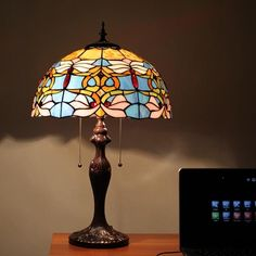 Evening Beach Tiffany Table Lamp