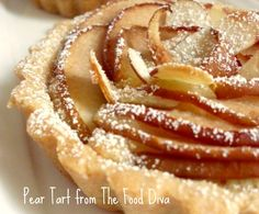 Pear Tart from @TheFoodDiva Austin, Texas.  Craving!