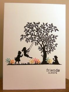 *Cards from free silhouette images and punched flowers (check blog for more) by Tilly McLeod