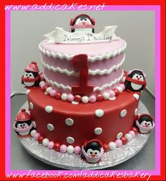 Penguin Birthday Cake