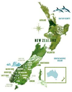 Lee Woodgate : New Zealand map
