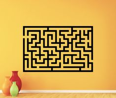 Labyrinth Wall Decal Maze Vinyl Sticker Living Kids Room Wall Art Decor Nursery…