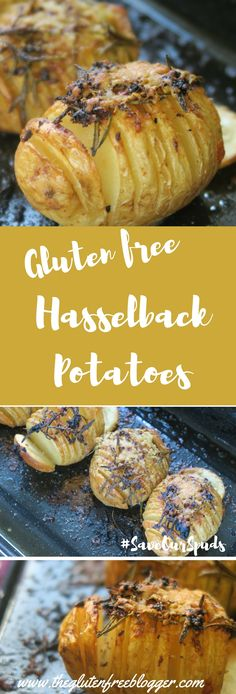 Gluten free hasselback potatoes recipe Love Food Hate Waste - www.theglutenfreeblogger.com
