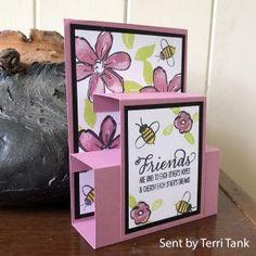 A fun fold friendship card robinscraftroom com Fancy Fold Cards, Folded Cards, Joy Fold Card, Step Cards, Pop Up Cards, Fun Cards, Baby Cards, Shaped Cards, Card Making Tutorials