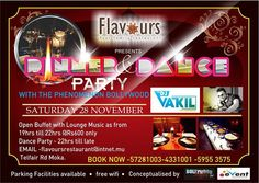 DINNER & DANCE at FLAVOURS - see more on http://ift.tt/1H0Msx6 #events #mauritius