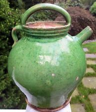 """french green pottery from Provence... The """"gargoulette"""", to keep water fresh!"""