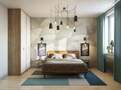 Спальня в стиле светлый лофт