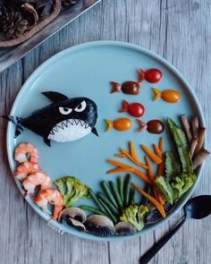 30 Delicious Art On Plate That Will Make You Hungry Food Art For Kids, Cooking With Kids, Bento Recipes, Baby Food Recipes, Toddler Meals, Kids Meals, Cute Food, Good Food, Comida Diy