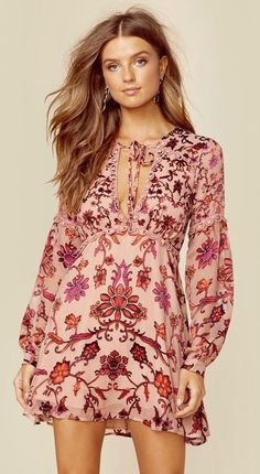 ( Best Seller ) PASABOHO Adore Floral Dress - Featuring a Lovely Boho Chic Dress for Perfect Outings or Wear it for that Special Someone on Romantic Dates