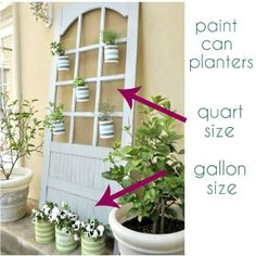 Paints cans for planters