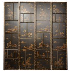 Chinese Lacquer Panels | From a unique collection of antique and modern screens at https://www.1stdibs.com/furniture/more-furniture-collectibles/screens/