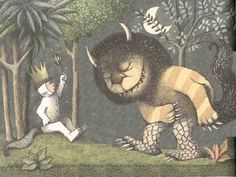 Illustration from the book, Where the Wild Things Are, by Maurice Sendak and first published in Maurice Sendak, Ai Weiwei, Sigmund Freud, Retelling, Wild Ones, Children's Book Illustration, Book Illustrations, Book Authors, Book Lists